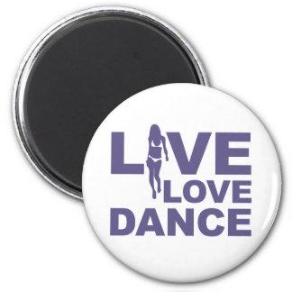 Danza viva del amor imán redondo 5 cm