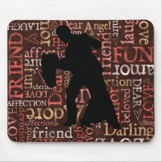 Danza viva del amor - par Mousepad del salón de ba Alfombrilla De Raton