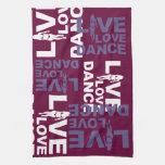 Danza viva del amor toalla de cocina