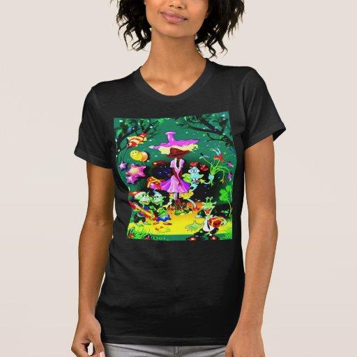 Danza y alegría felices camiseta