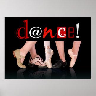 ¡Danza! - Zapatos de la danza Póster
