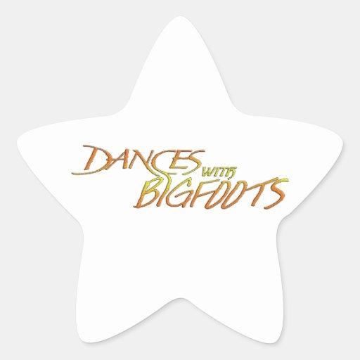 Danzas con Bigfoot Calcomanías Forma De Estrellaes Personalizadas