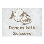 Danzas con las tijeras invitación 12,7 x 17,8 cm