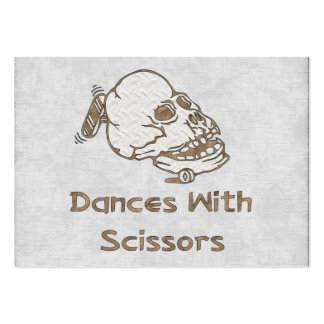 Danzas con las tijeras tarjetas de visita grandes