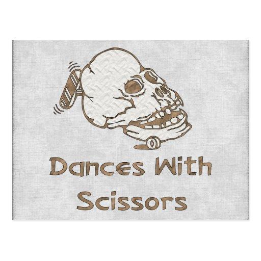 Danzas con las tijeras tarjeta postal
