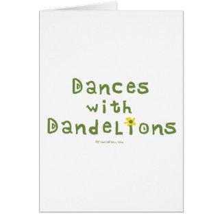 Danzas con los dientes de león tarjeta pequeña