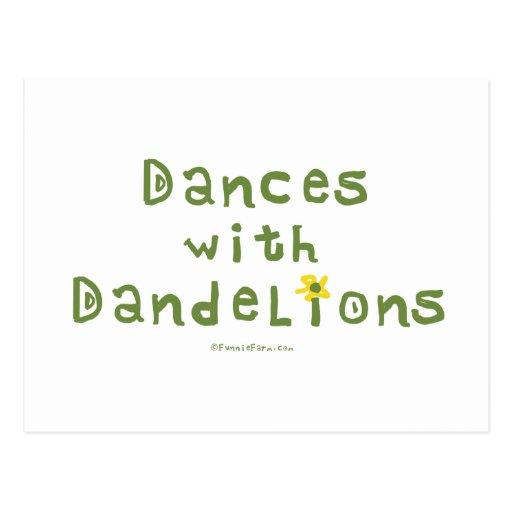 Danzas con los dientes de león tarjetas postales