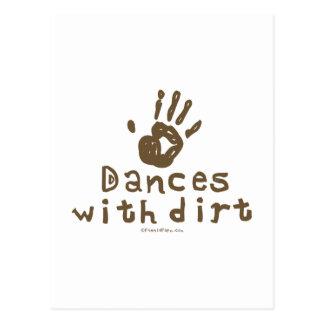 Danzas con suciedad tarjeta postal