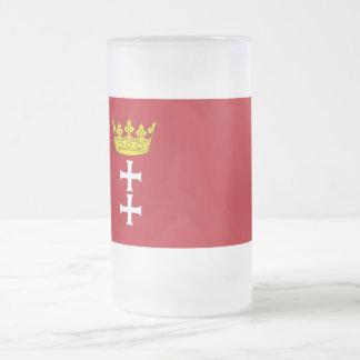 Danzig - Gdansk Flag Frosted Glass Beer Mug