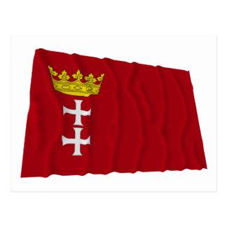 Danzig - Gdansk Waving Flag Post Card