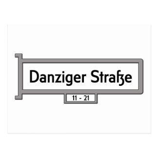 Danziger Strasse Berlin Street Sign Postcards