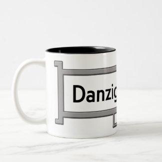 Danziger Strasse, Germany Street Sign Two-Tone Coffee Mug