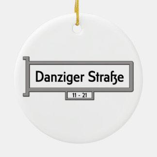 Danziger Strasse, placa de calle de Alemania Adorno Redondo De Cerámica