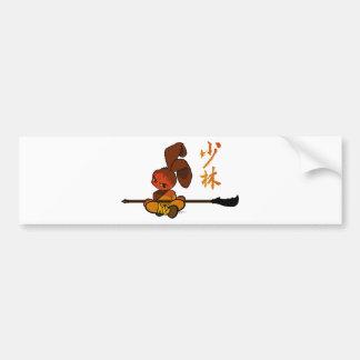 dao kwan del conejito del shaolin del hierro pegatina de parachoque