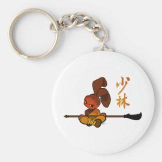 dao kwan del conejito del shaolin del hierro llavero redondo tipo pin