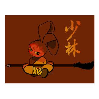dao kwan del conejito del shaolin del hierro postales