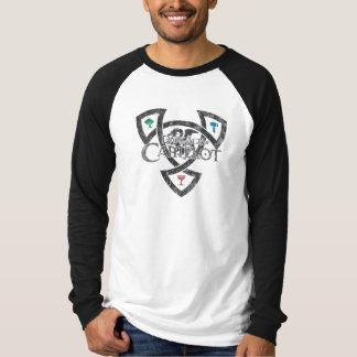 DAoC - camiseta del raglán de los hombres con el Playeras