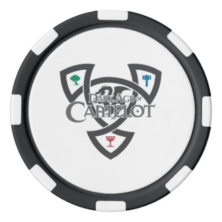 DAoC Knot Clay Poker Chips, Black Striped Edge