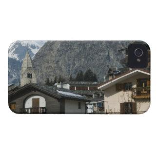 d'Aosta de Europa, Italia, Valle, COURMAYEUR: Ciud iPhone 4 Fundas