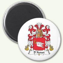 D'Aoust Family Crest Magnet