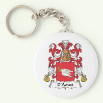 D'Aoust Family Crest Keychain