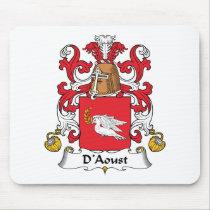 D'Aoust Family Crest Mousepad