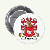 D'Aoust Family Crest Button