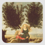 Daphne and Apollo, c.1470-80 Square Sticker