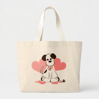 Daphne el perro adoptado bolsa de mano