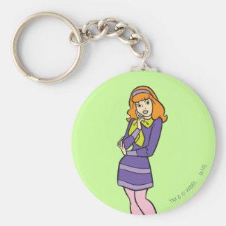 Daphne Pose 12 Basic Round Button Keychain