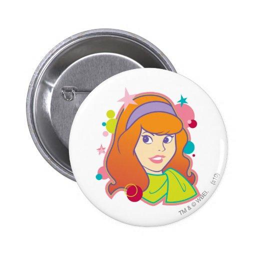 Daphne Pose 18 2 Inch Round Button