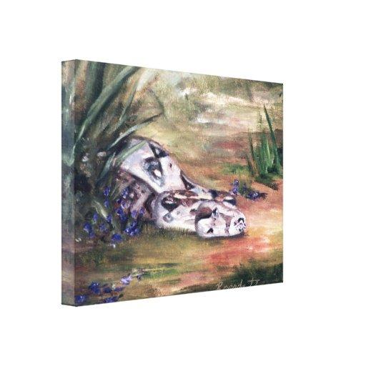 Daphne Snake Wrapped Canvas Print