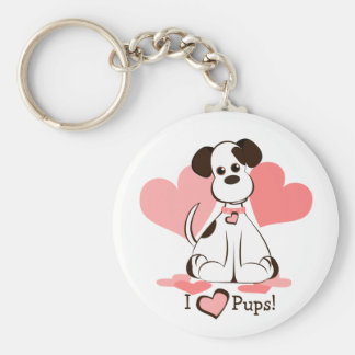 Daphne the Adopted Dog Keychain