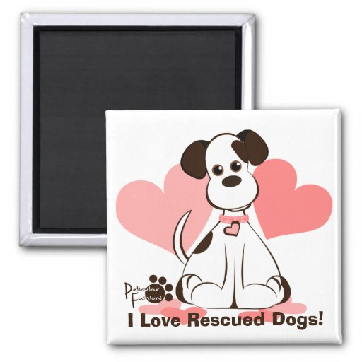 Daphne the Adopted Dog Magnets