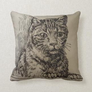 Daphne the Cat Throw Pillow