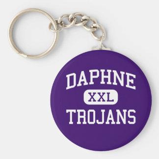 Daphne - Trojans - High School - Daphne Alabama Keychain