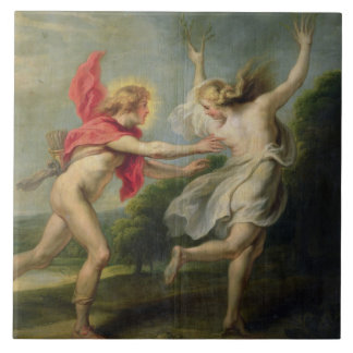 Daphne y Apolo (aceite) Azulejo Cuadrado Grande