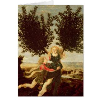 Daphne y Apolo c 1470-80 Tarjeta