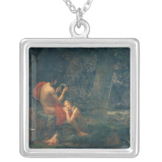 Daphnis and Chloe, 1824-25 Square Pendant Necklace