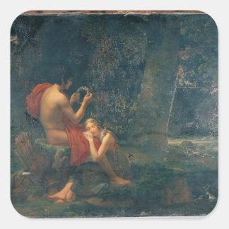 Daphnis y Chloe, 1824-25 Calcomania Cuadradas