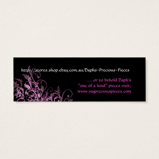 Daph's Precious Pieces Tag-custom design Mini Business Card