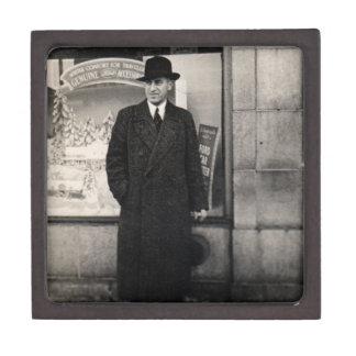 dapper 1930s man photo jewelry box