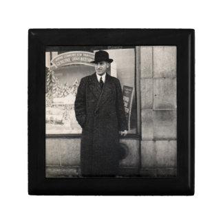 dapper 1930s man photo keepsake box