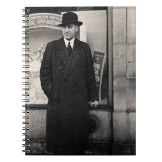 dapper 1930s man photo notebook
