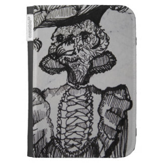 Dapper animal Illustrated Kindle case. Cases For Kindle