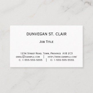 Dapper, Basic, & Corporate Business Card