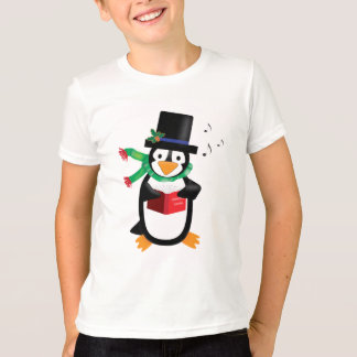 Dapper Caroling Penguin Shirt