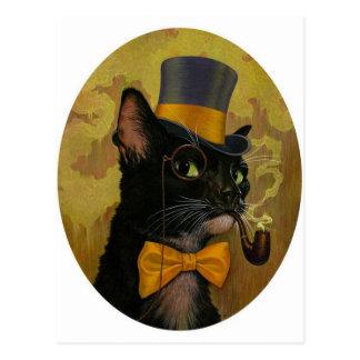 Dapper Cat Postcard