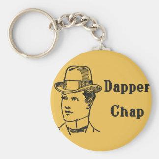 Dapper Chap keyring Basic Round Button Keychain