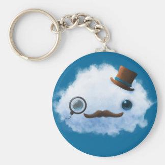 Dapper Cloud Basic Round Button Keychain
